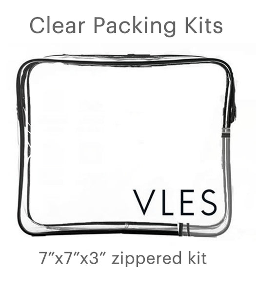 Clear Packing Kits - set of four
