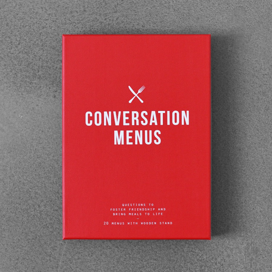 Conversation Menus: Questions to Foster Friendships and Bring Meals to Life