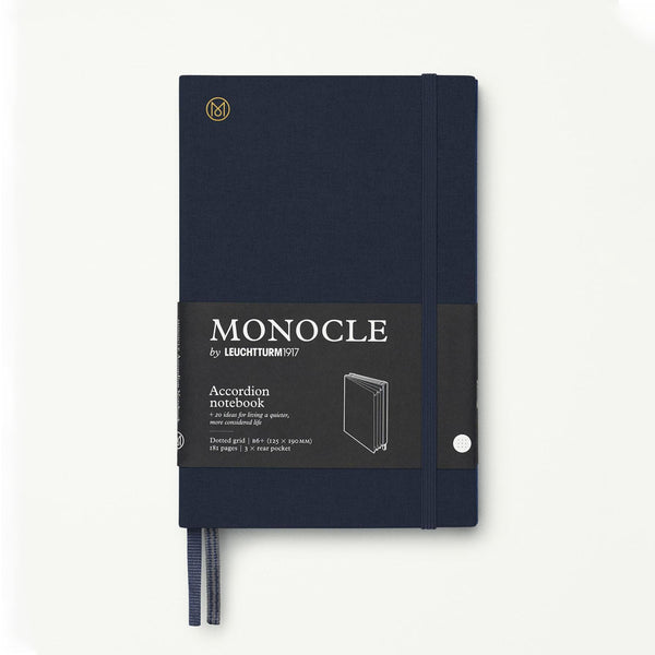 Monocle Accordion Notebook B6 - Navy