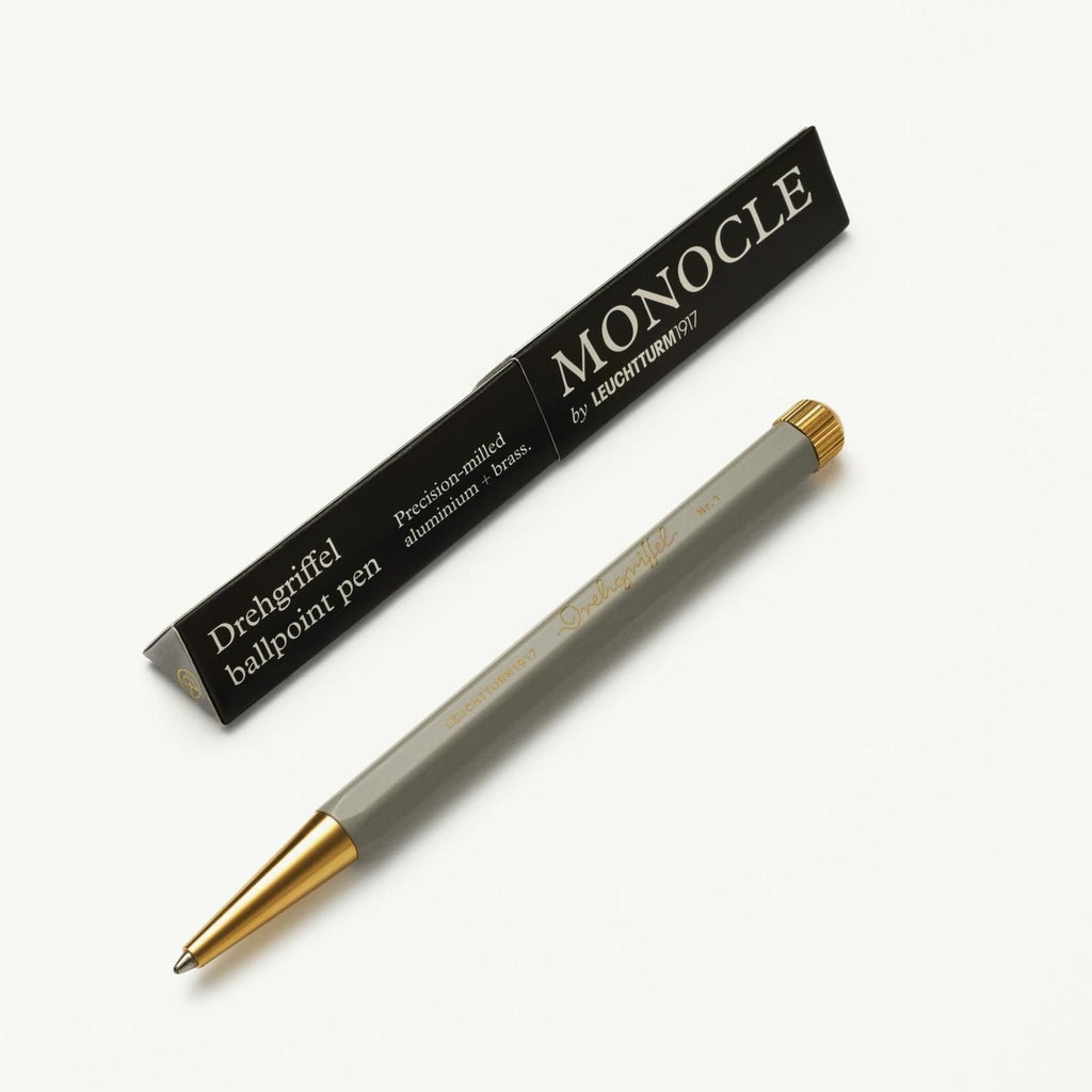 Monocle Drehgriffel - Light Grey - Black Ink