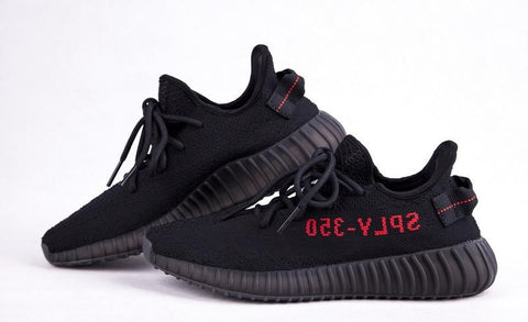 Adidas Yeezy 350 V 2 Black Red BRed Size 9.5, Authenticated
