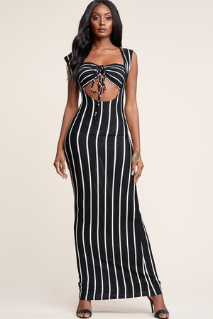 Fine Line Dress W Bra Top