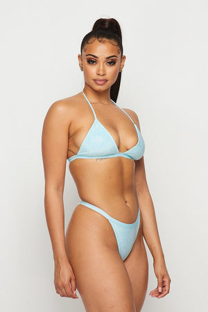 All That Glitters Bikini Top