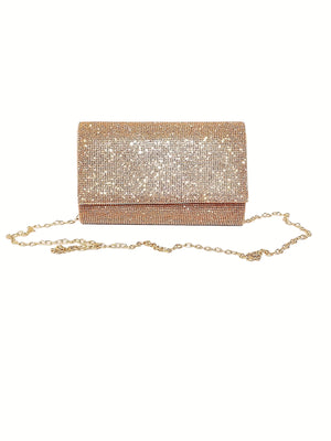 Square Rhinestone Clutch