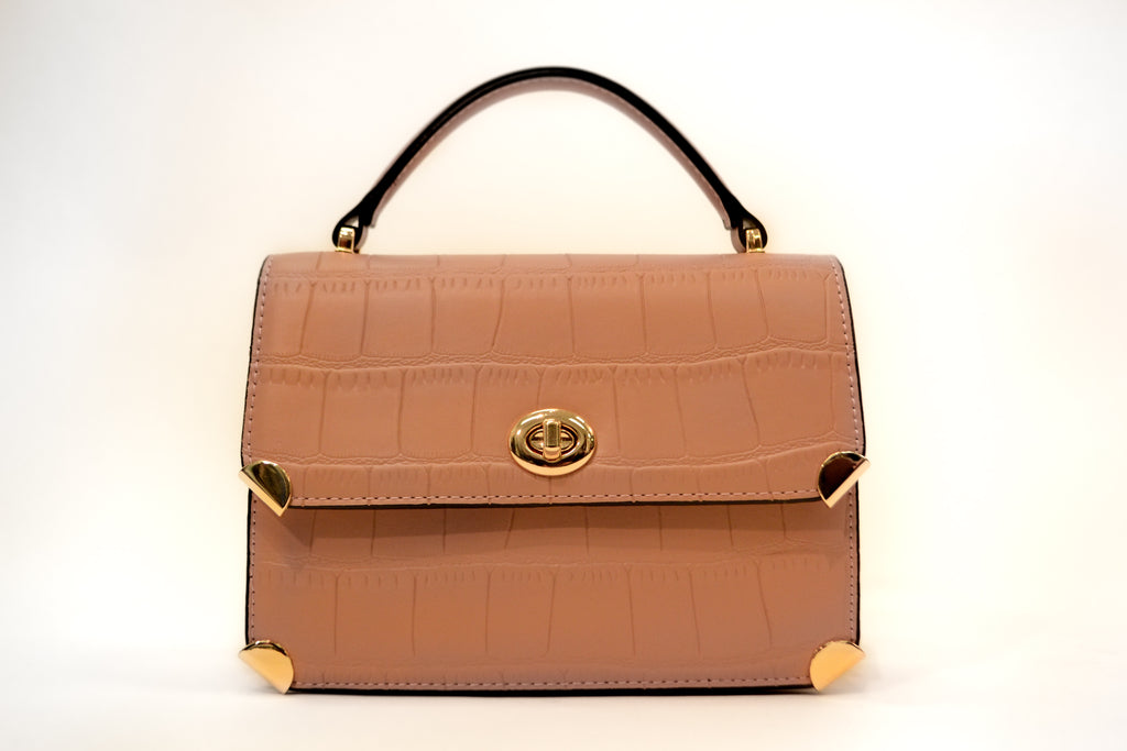 Faux Croc Leather Bag