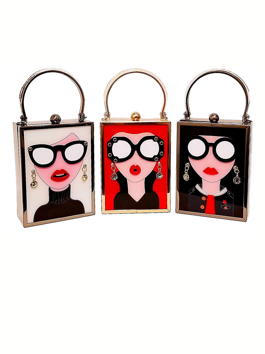 Woman Face Clutch