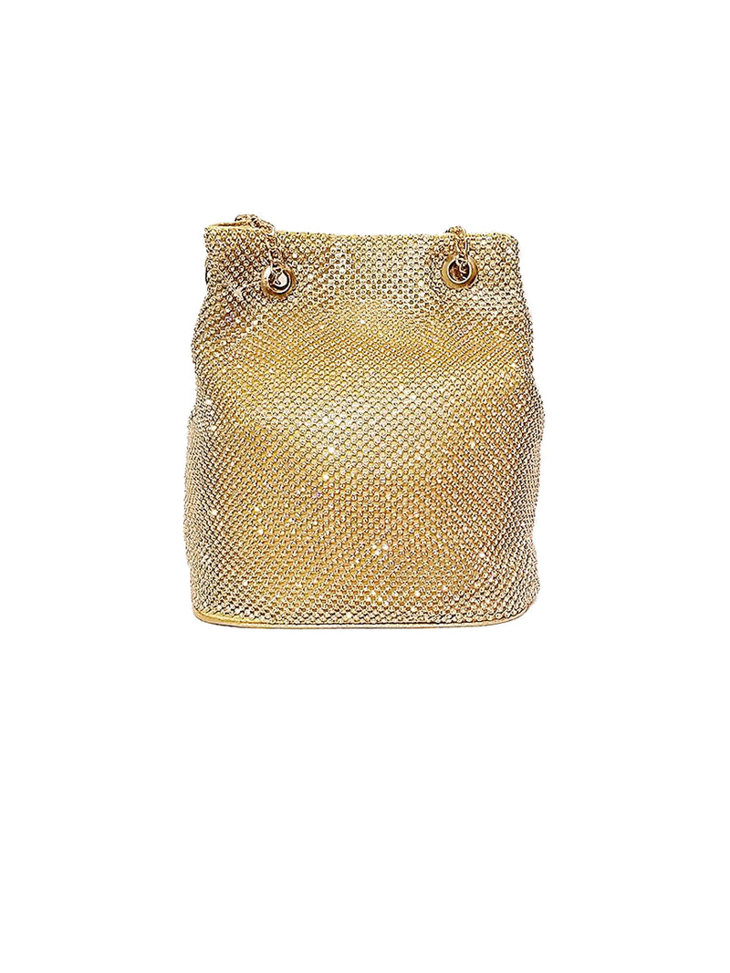 Large Rhinestone Bucket Bag