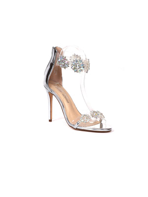 Jeweled Clear Strap Stiletto