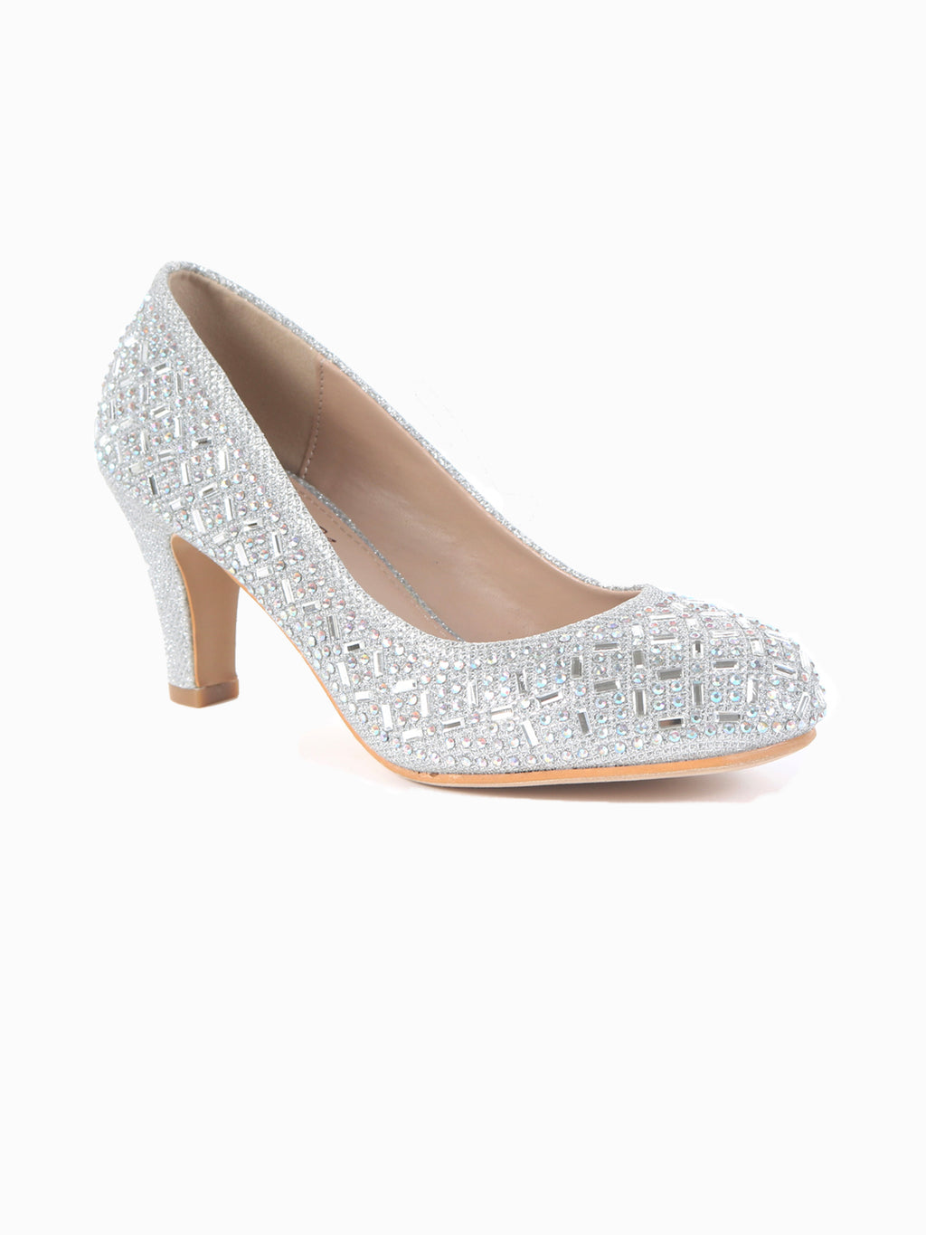 Low Stiletto Rhinestone Pump