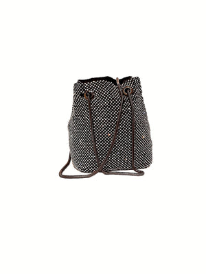 Small Rhinestone Bucket Bag