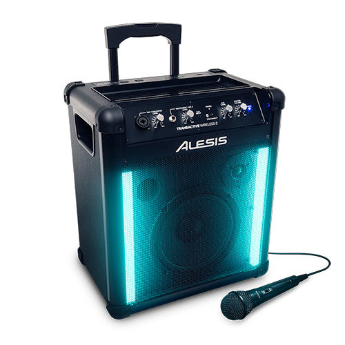 Alesis Transitive 2 Wireless Portable PA Speaker System - Portable Bluetooth Speaker and Lights
