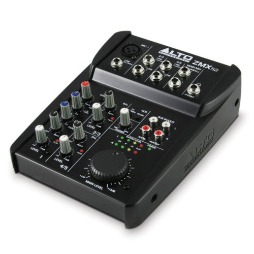 Alto ZMX Series ZMX52 5 Channel Compact Mixer