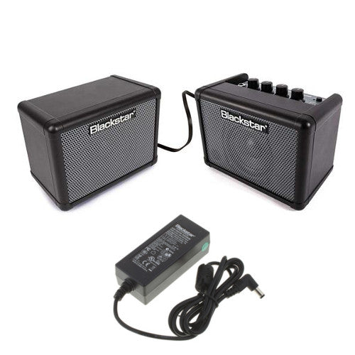 Blackstar Fly 3 Compact Mini Portable Bass Guitar Amp - Stereo Pack Bundle