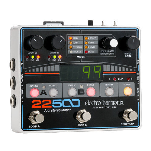 Electro-Harmonix 22500 Looper - Dual Stereo Looper - New for 2016