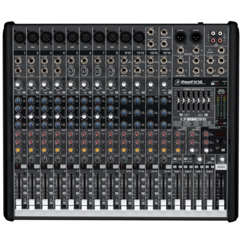 Mackie ProFX16V2 16 Channel Compact 4-Bus Passive Mixer with USB & Effects