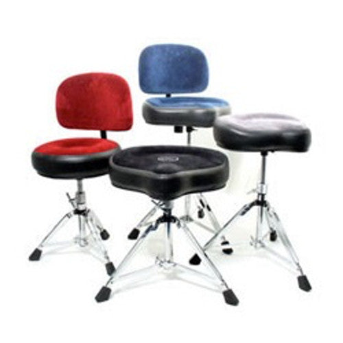 Roc-n-Soc Drum Throne - The Original & Ultimate Saddle Style Stool Backrest Options Available