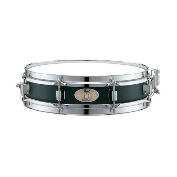 Pearl S1330 13'' x 3'' Steel Piccolo Snare Drum, Black