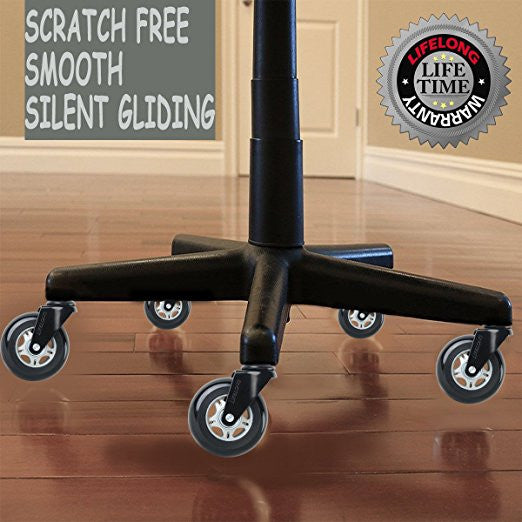Ordinaire ... Wonder Wheels Office Chair Wheels Replacement Rubber Chair Casters For  Hardwood Floors And Carpet LIFELONG Warranty ...