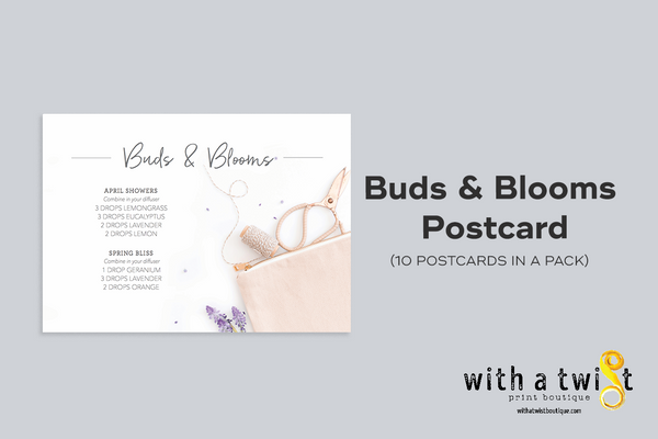 POSTCARDS: Buds and Blooms