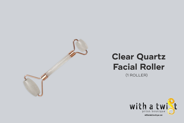 Facial Roller: Clear Quartz