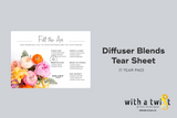 Tear Sheet: Fill the Air Diffuser Blends