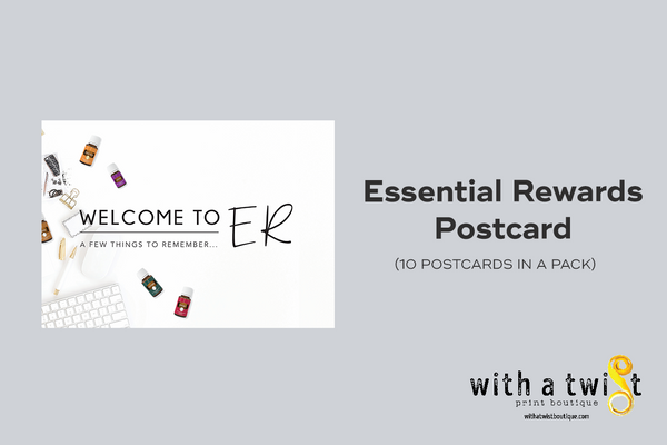 Post Cards: Welcome to Essential Rewards - 10 in a pack