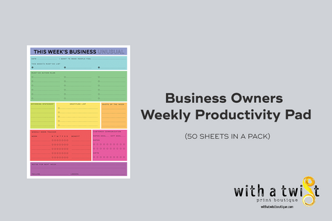 Business Owners Weekly Productivity Pad