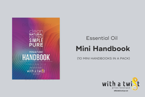 Essential Oil Mini Handbooks (10 Handbooks in a pack)