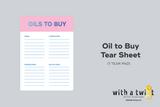 Oils To Buy Tear Pad