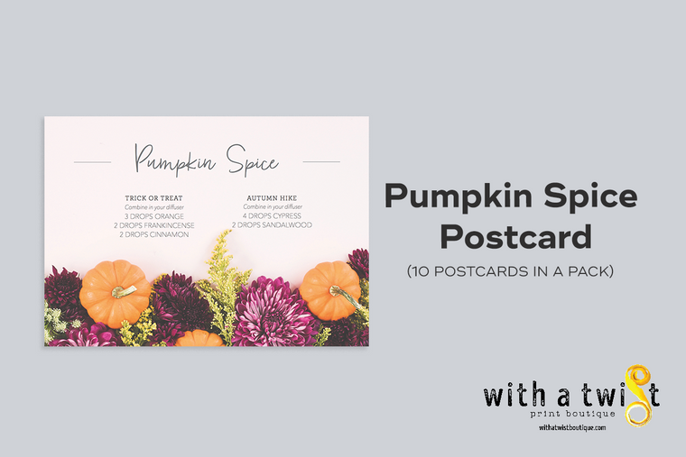 POSTCARDS: Pumpkin Spice