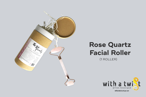 Facial Roller: Rose Quartz