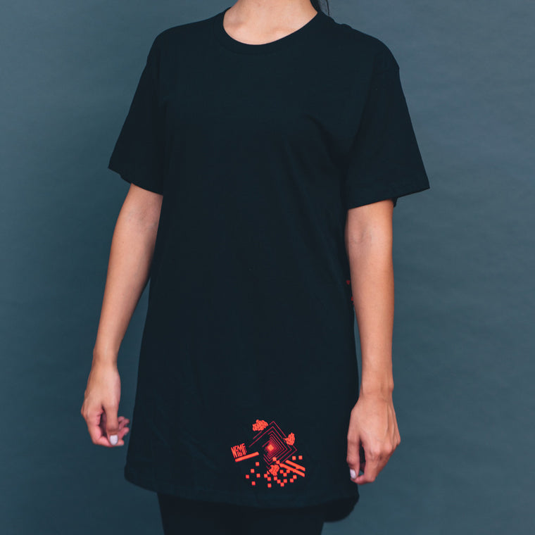 NCMF 2016 Long T, Black w/ Red
