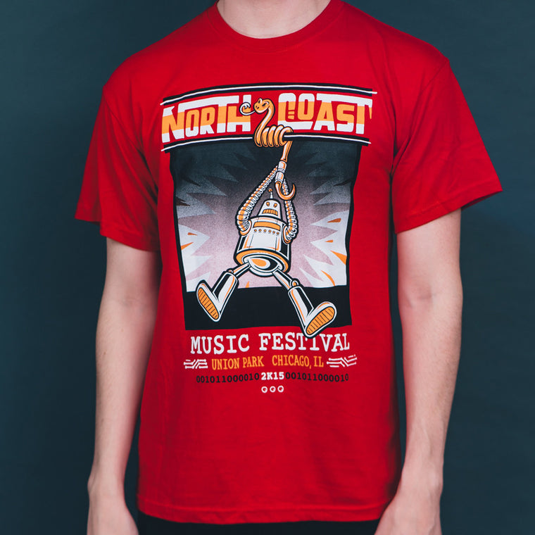 NCMF 2015 Lineup Shirt, Swing Robot, Red