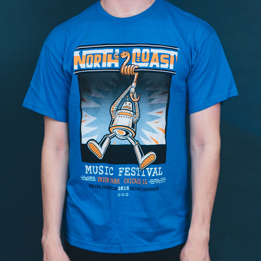 NCMF 2015 Lineup Shirt, Swing Robot, Blue