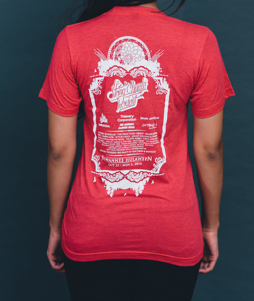 Hulaween 2014 Band Listing Shirt, Red