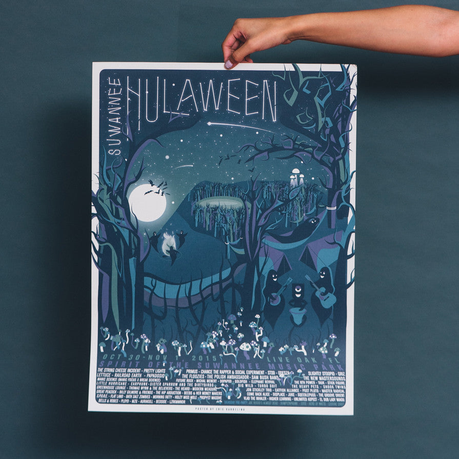 Hulaween 2015 Poster by Eric Karbeling