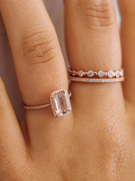 The Valentina Ring- Emerald Cut