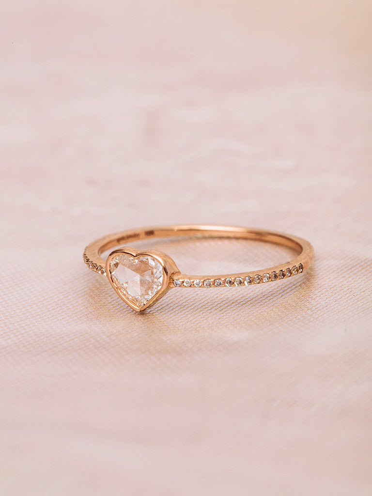 The Rose Cut Heart Ring