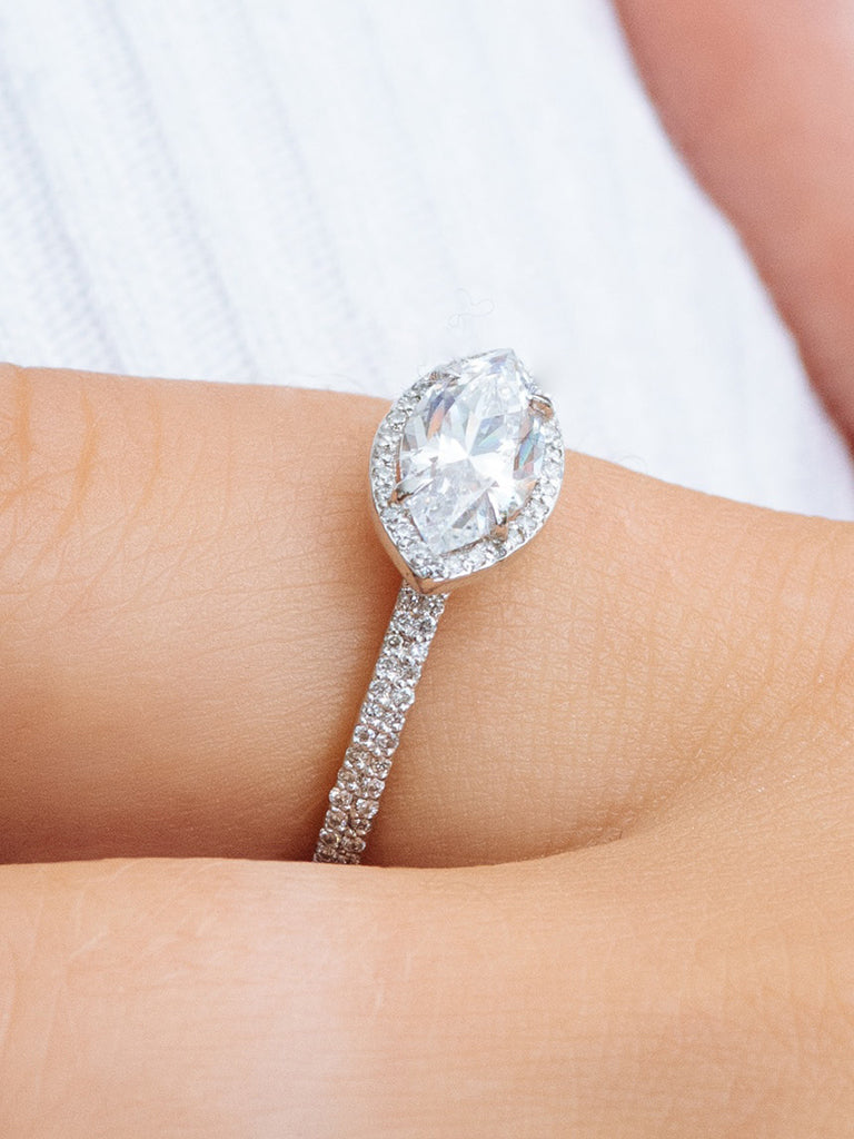 The Elodie Ring Setting (Marquise Cut)