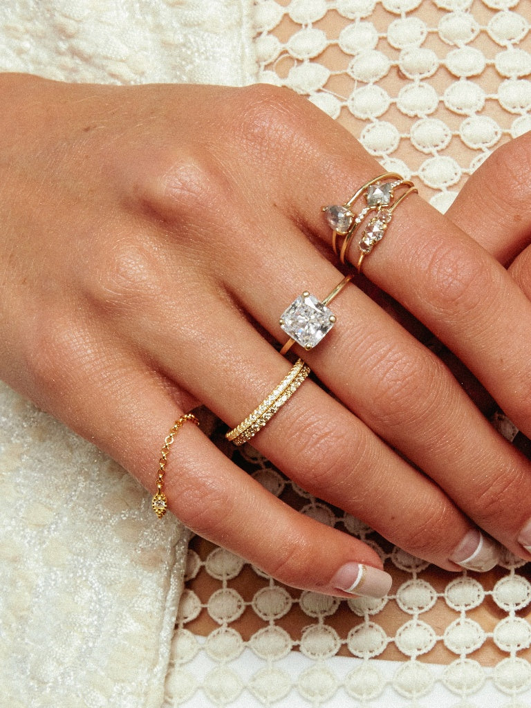 The Stella Ring Setting (Cushion)