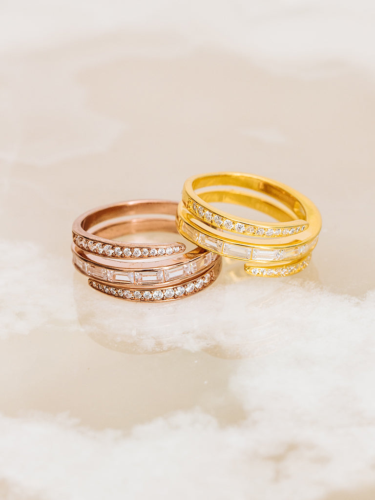 The Baguette Coil Ring