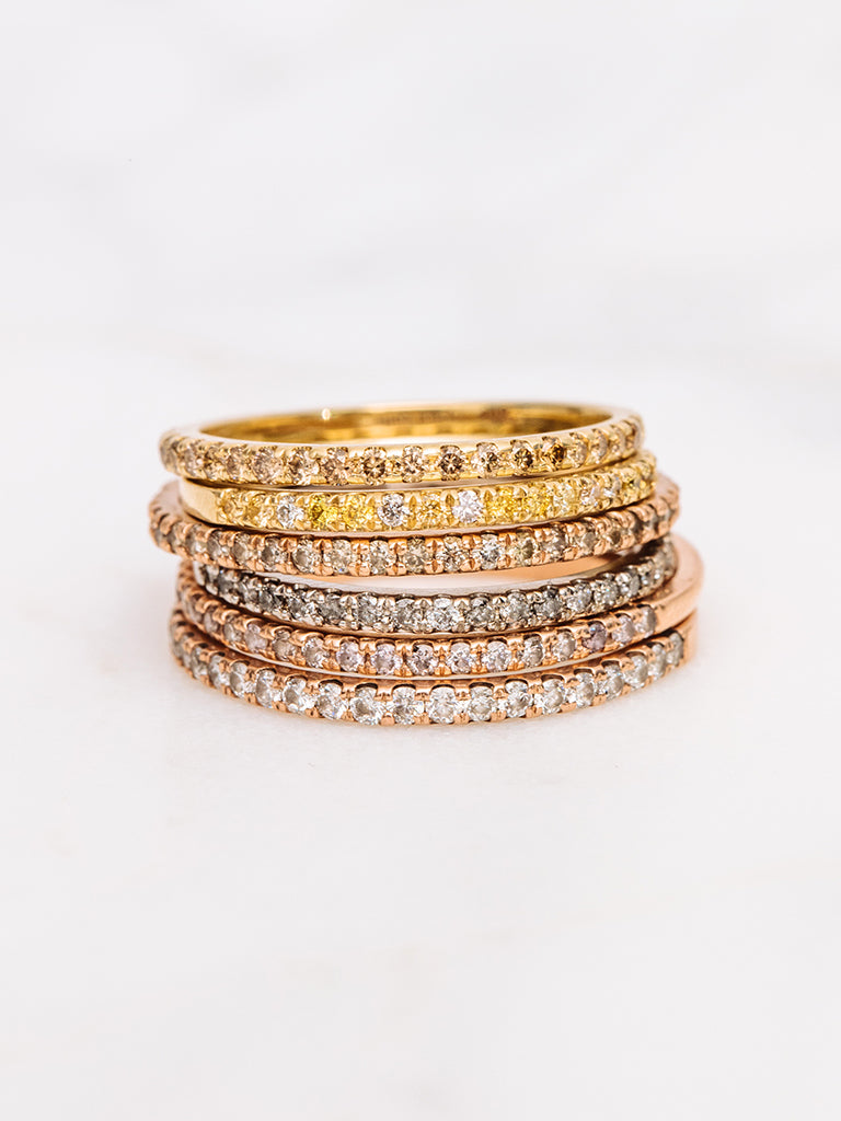 The Ombre Pavè Band with Yellow Diamonds