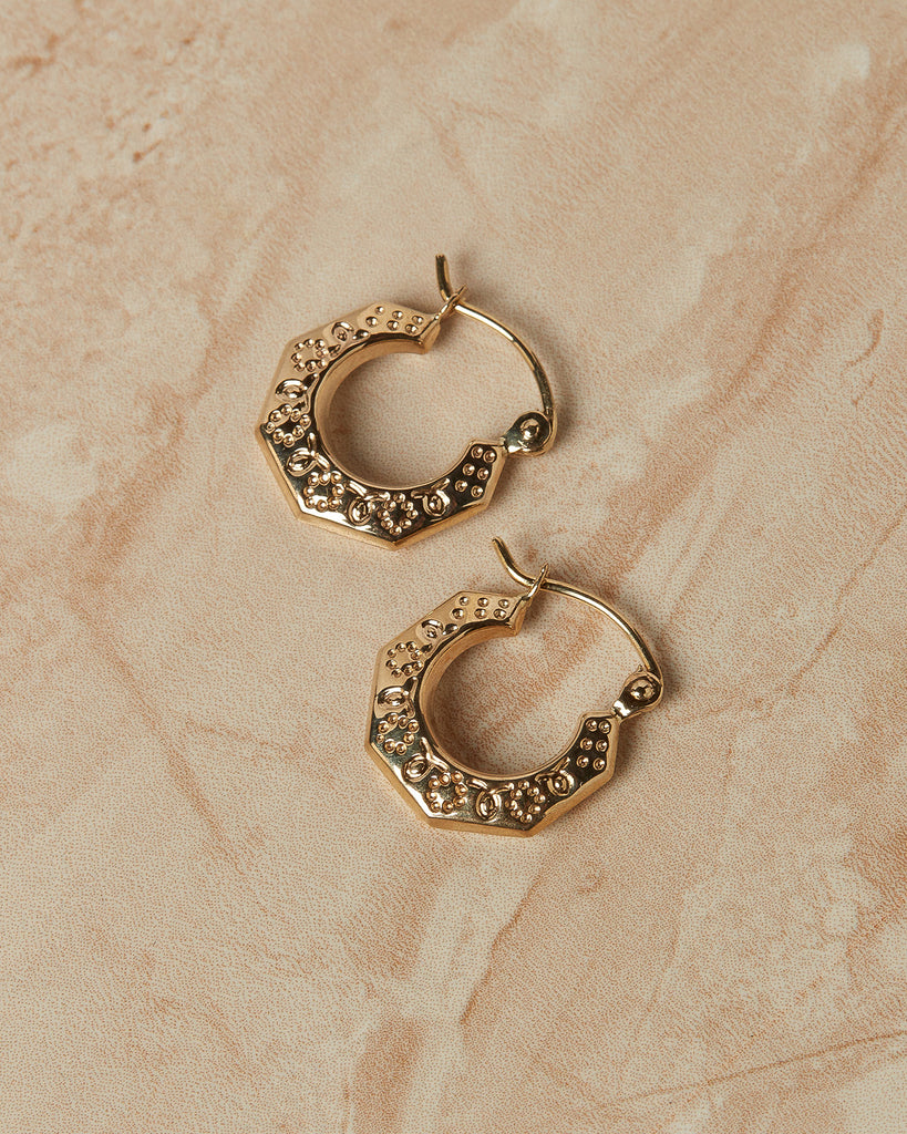 The Baby Etched U Hoops