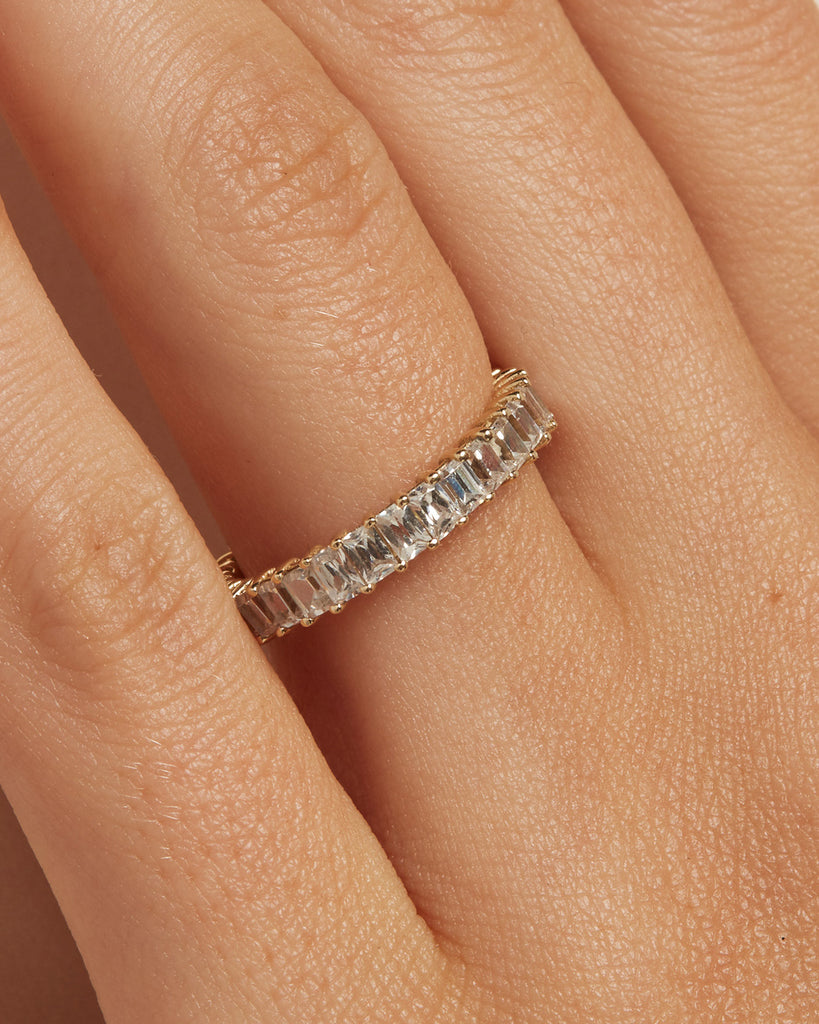 The Ballier Ring- Emerald-Cut 2x3 mm