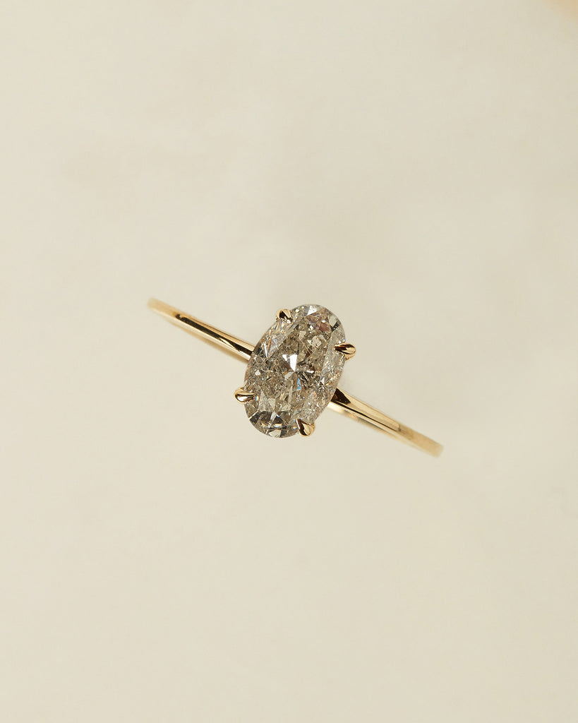 The Stella Ring Setting (Oval Rustic Diamond)