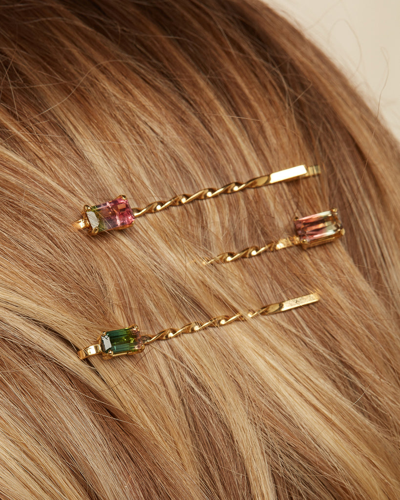 The Tourmaline Bobby Pins