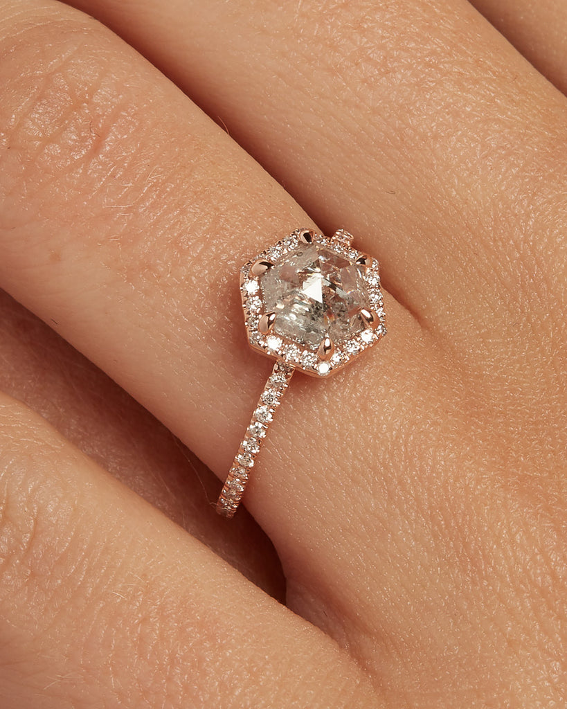 The Valentina Ring Setting (Hexagon)
