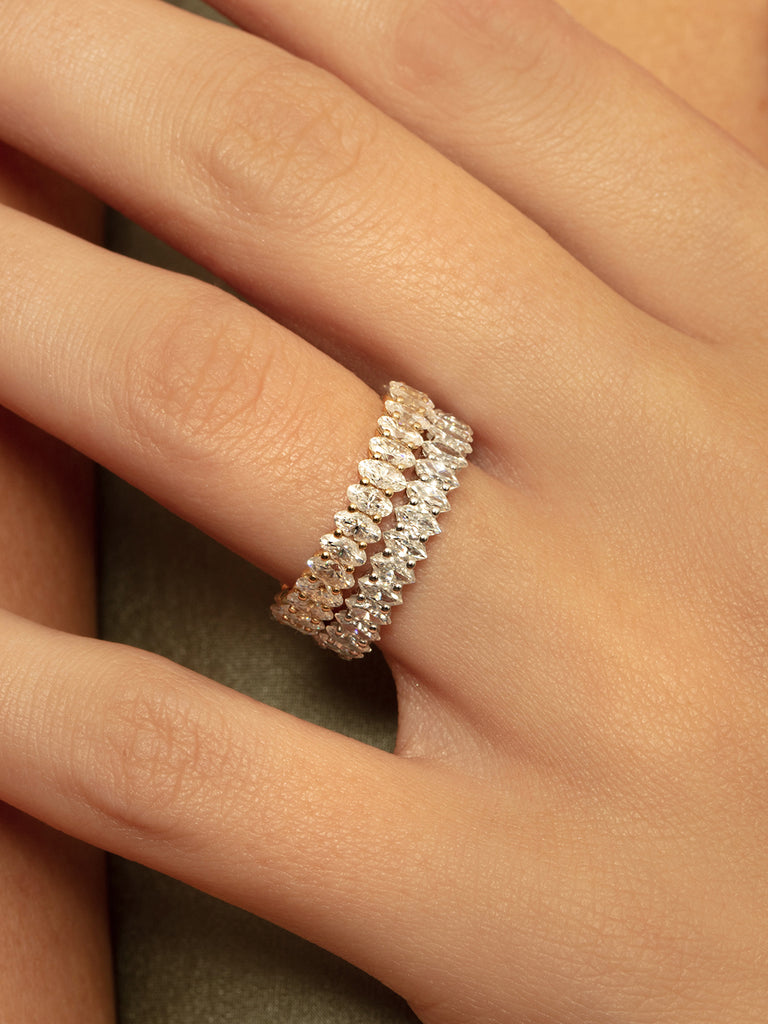 The Ballier Ring- Marquise Cut 2x4 mm