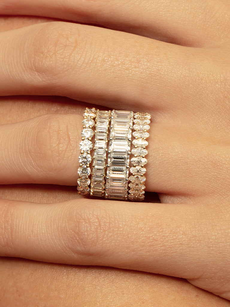 The Ballier Ring- Round Cut 3 mm