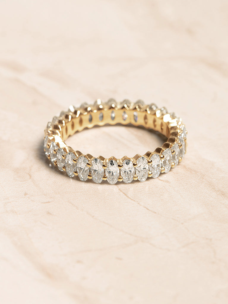 The Ballier Ring- Oval Cut 2x4 mm